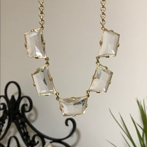 JCrew Crystal trapezoid necklace